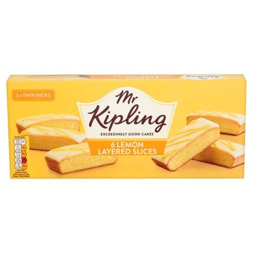Mr Kipling 6 Lemon Layered Slices