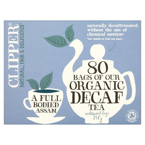 Clipper Organic Naturally Decaffeinated Tea Bags 80 per pack 250g