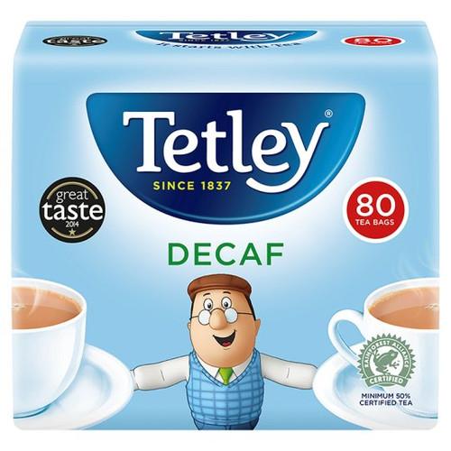 Tetley Decaffeinated 80 Teabags 250G