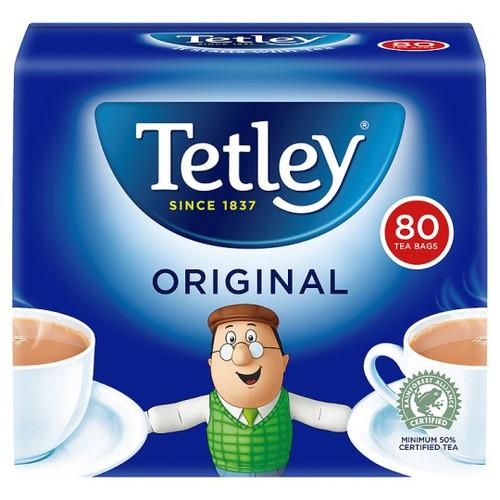 Tetley Softpack 80 Teabags 250G