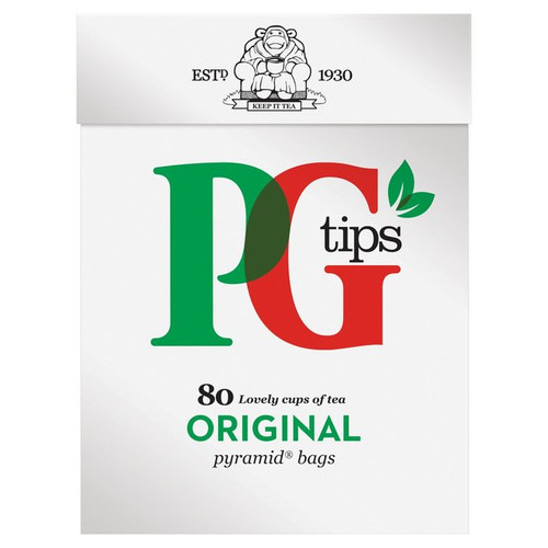 PG Tips Pyramid Teabags 80 per pack