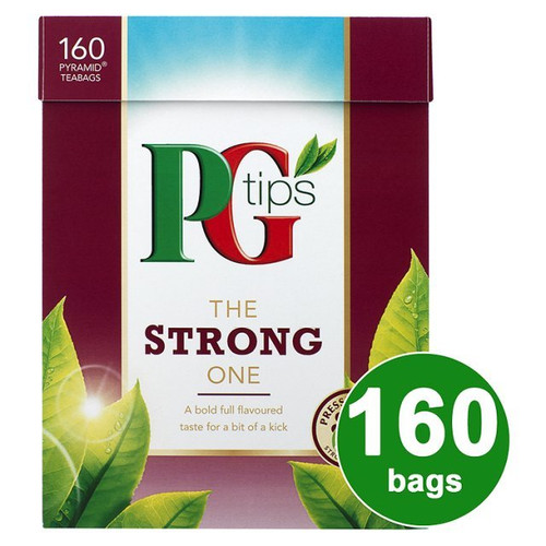 PG Tips The Strong One 160s Pyramid Teabags 160 per pack