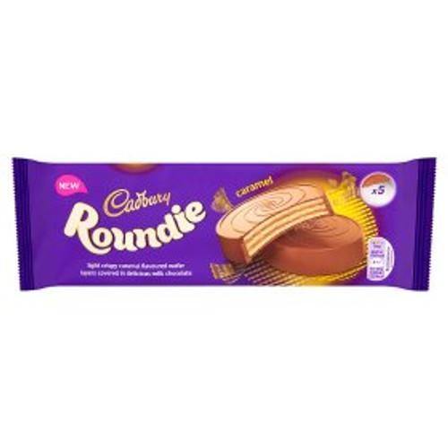 Cadbury Roundie Caramel Biscuits 5 Pack 150g