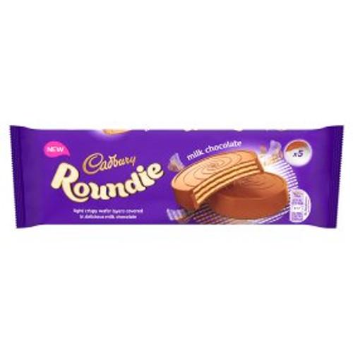 Cadbury Roundie Milk Chocolate Biscuits 5 Pack 150g