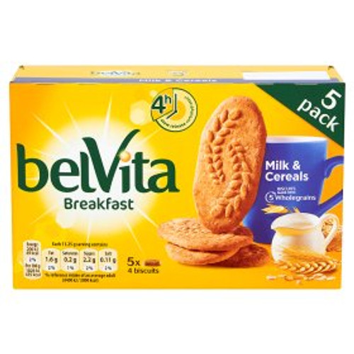 Belvita Breakfast Biscuits Milk & Cereals 5 Packs 225g