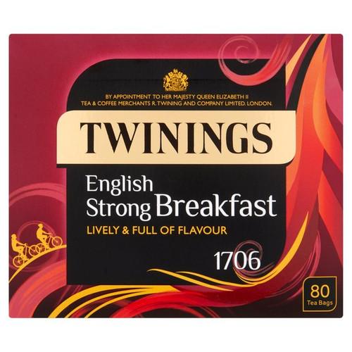 Twinings 1706 Strong Breakfast Tea 80 per pack