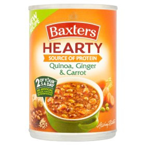 Baxters Hearty Source of Protein Quinoa, Ginger & Carrot Soup 400g