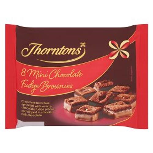 Thorntons Mini Chocolate Fudge Brownies 8pk