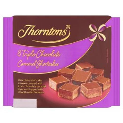 Thorntons Triple Chocolate Caramel Shortcakes 8pk