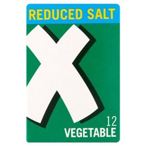 Oxo Reduced Salt Vegetable Stock Cubes 12x6g