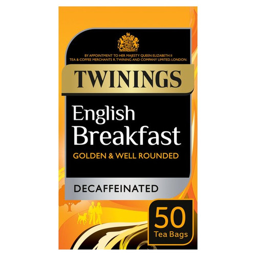 Twinings Decaffeinated English Breakfast Tea Bags 50 per pack