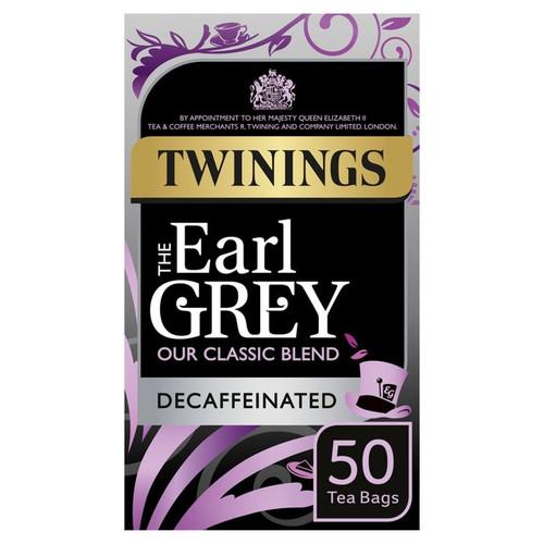 Twinings Earl Grey Decaffeinated Tea Bags 50 per pack