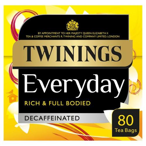 Twinings Everyday Tea Decaffeinated 80 per pack 250g