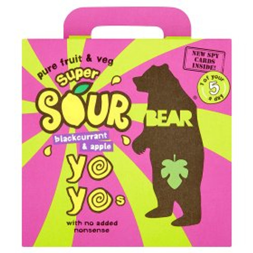 Bear Super Sour Blackcurrant & Apple Yoyos 5 Packs