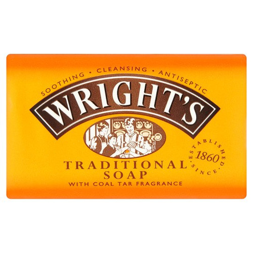 Wrights Traditional Soap With Coal Tar Fragrance 125G