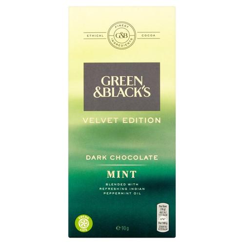 Green & Black's Velvet Dark Chocolate with Mint 90g