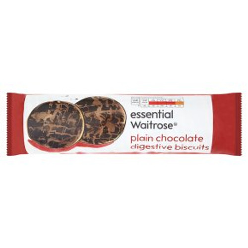 Essential Waitrose Plain Chocolate Digestive Biscuits 400g