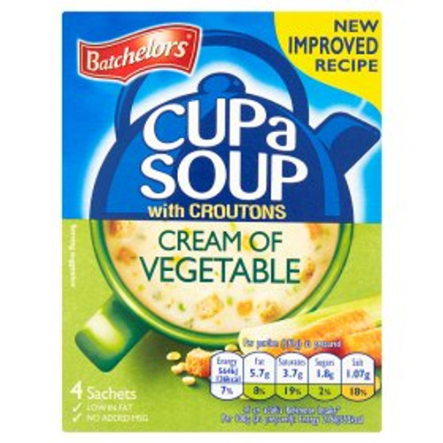 Batchelors Cup a Soup Cream of Vegetable with Croutons