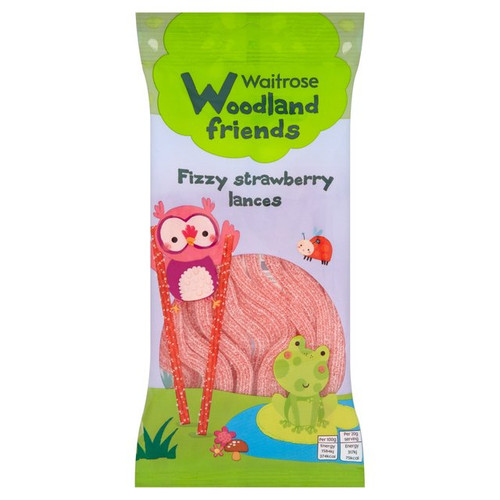 Waitrose Fizzy Strawberry Lances 100g