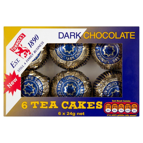 Tunnocks Dark Chocolate Teacakes 6 x 24g
