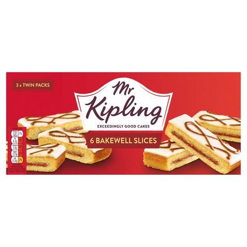 Mr Kipling 6 Bakewell Slices 150g