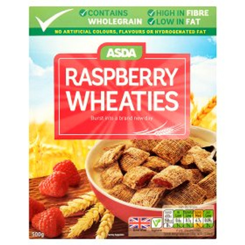 ASDA Raspberry Wheaties 500g
