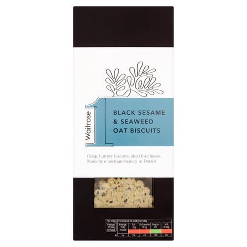 Waitrose 1 Black Sesame & Seaweed Oat Biscuits 130g