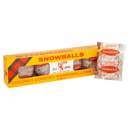 Tunnocks Milk Chocolate Snowballs 4x 30g