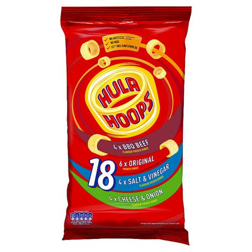 Hula Hoops Crisps Variety 18 x 24g