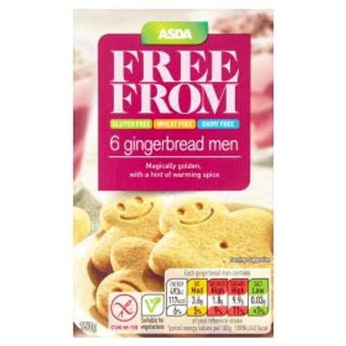 Asda Free From 6 Gingerbread Men 150g