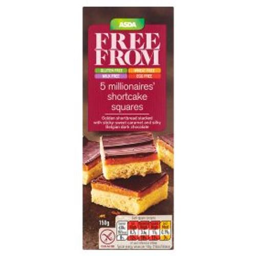 ASDA Free From 5 Millionaires' Shortcake Squares 150g