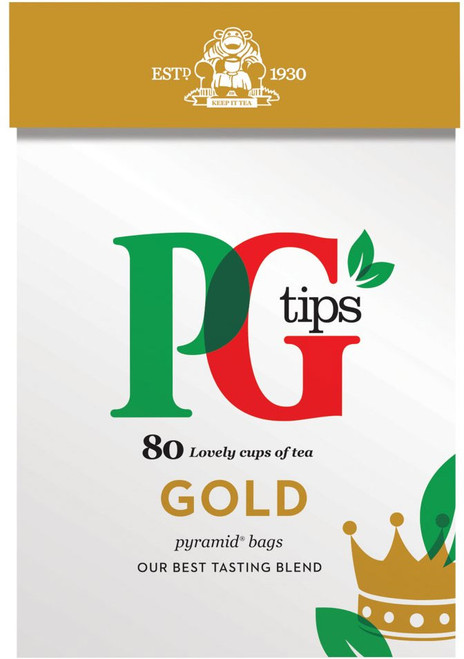 PG Tips Gold Pyramid Tea Bags 80pk