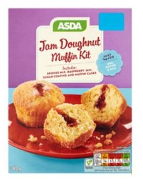 ASDA Jam Doughnut Muffin Kit 380g