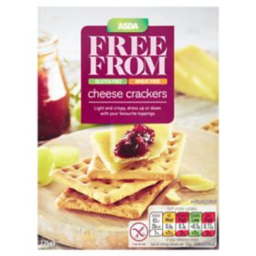 ASDA Free From Cheese Crackers 125g