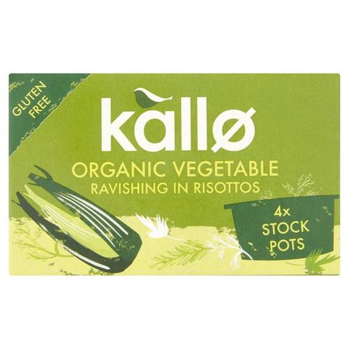 Kallo Organic Vegetable Stock Pots 4 x 24g