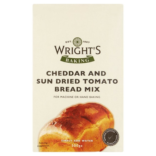 Wright's Baking Cheddar and Sun Dried Tomato Bread Mix 500g