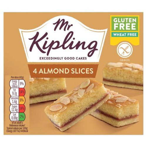 Mr Kipling Gluten Free Almond Slice 4 Pack