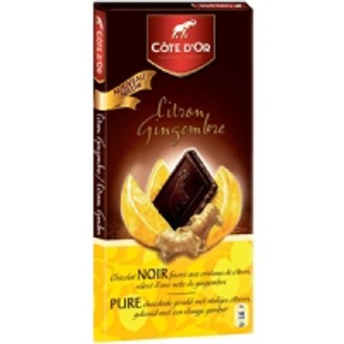 Cote D'Or Noir Fusion Citron Gingembre 150g