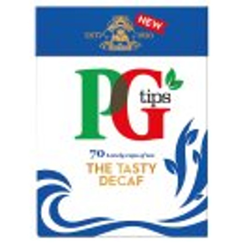 PG Tips Decaffeinated 70 Tea Bags 70pk