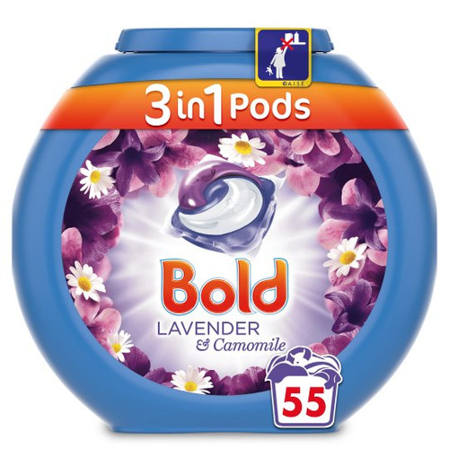 Bold 3In1 Lavender And Camomile Pods 55 Washes