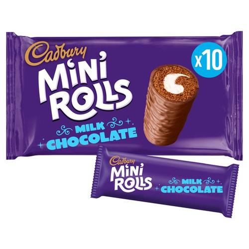 Cadbury Mini Rolls 10 Per Pack 280g