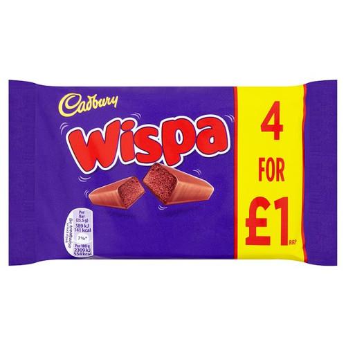 Cadbury Wispa Bars 4 x25.5g