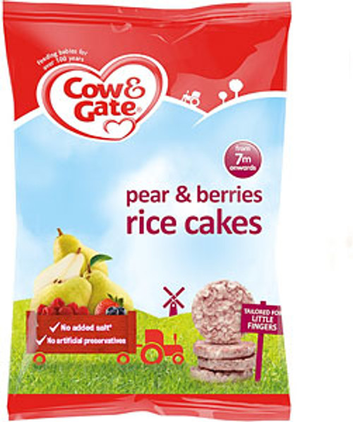 Cow & Gate Pear & Berries Rice Cakes 40g