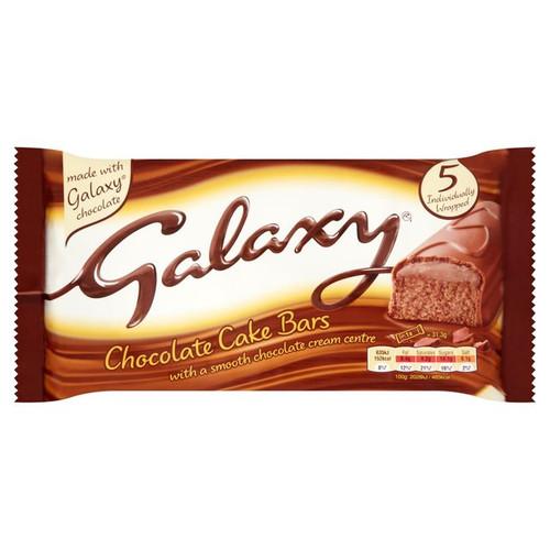 Galaxy Chocolate Cake Bars 5 per pack