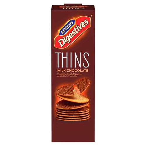 Mcvities Digestives Thins Milk Chocolate 180g