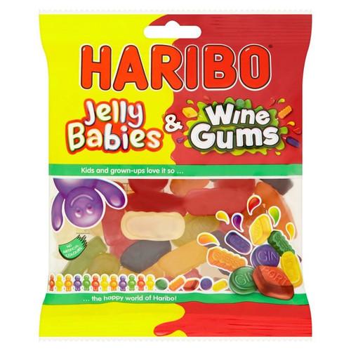 Haribo Jelly Babies & Wine Gums Bag 190g