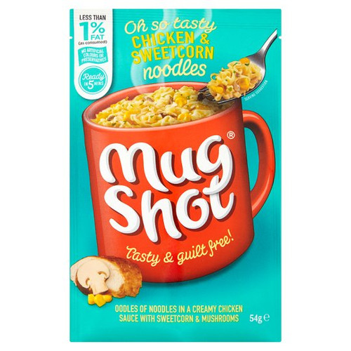 Mugshot Chicken And Sweetcorn Noodles 54G