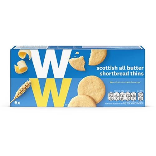 Weight Watchers All Butter Shortbread Thins 6x12g