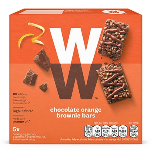 Weight Watchers Chocolate Orange Brownie Bars 5x18g