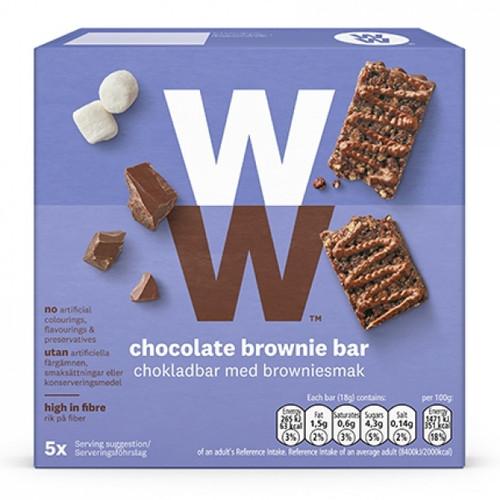 Weight Watchers Chocolate Brownie Bars 5x18g